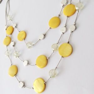 🆕 KENNETH COLE Necklace Disc Crystal Yellow